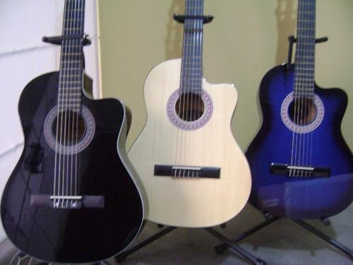 guitarra acústica importada, mastil reforzado + acccesorios