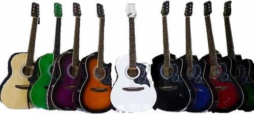 guitarra acustica importada todos los colores naylon y metal