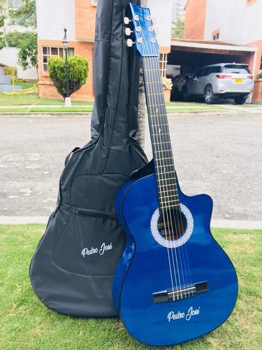 guitarra acustica incluye forro+metodo y personalizada