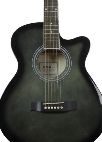 guitarra acustica jumbo color negro swamp marca rmc