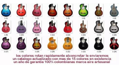 guitarra acústica  marca aire artesanal forro pua colgante