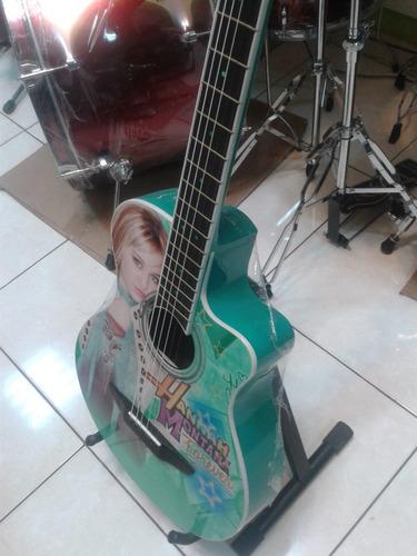 guitarra acustica modelo hanna montana+accesorios.