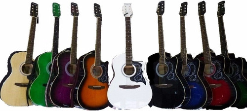 guitarra acustica todos colores naylon metal mejor precio