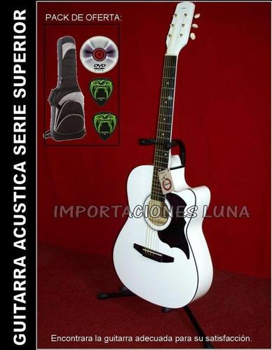 guitarra acustica version mejorada, accesorios y curso dvd