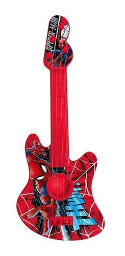guitarra acustica violão infantil brinquedo homem aranha