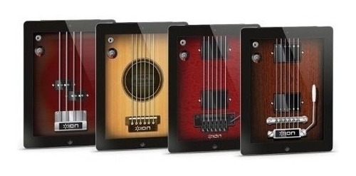 guitarra all star para ipad, iphone ou ipod touch igt06 ion
