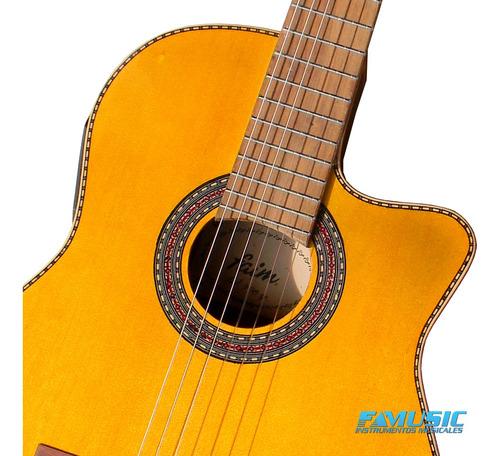 guitarra clasica con ecualizador y afinador racker plus 708