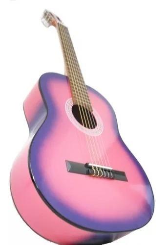 guitarra clasica criolla con funda y puas