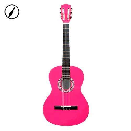 guitarra clasica criolla deluxe rosa princesas + envio