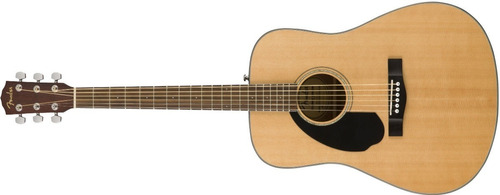 guitarra clasica fender cd-60s zurda natural - cuotas