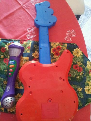 guitarra con microfono