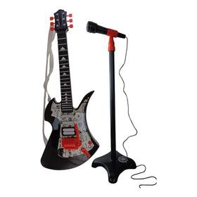 Guitarra Con Microfono De Pie Sonidos Reales Original Ti