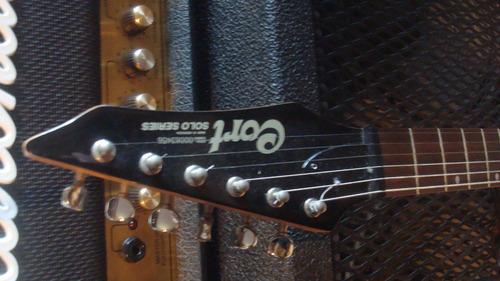 guitarra cort solo series pronta para show - troco
