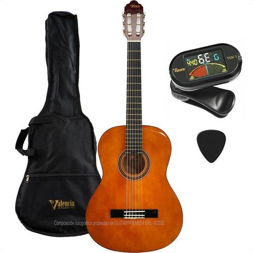 guitarra criolla avanzada valencia funda afinador pua vc104k
