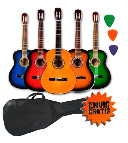 guitarra criolla clasica calidad superior funda 3 puas cuota