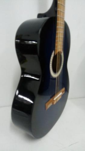 guitarra criolla clasica de estudio azul + funda de regalo