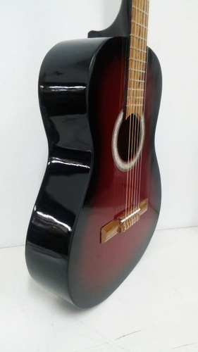 guitarra criolla clasica de estudio roja + funda de regalo