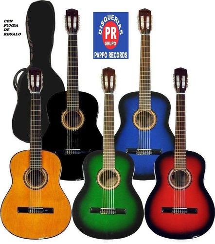 guitarra criolla clásica + funda + púa pappo records