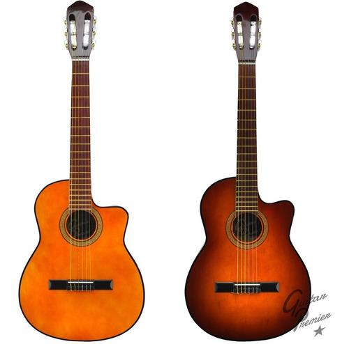 guitarra criolla electroacustica con corte funda pua colores