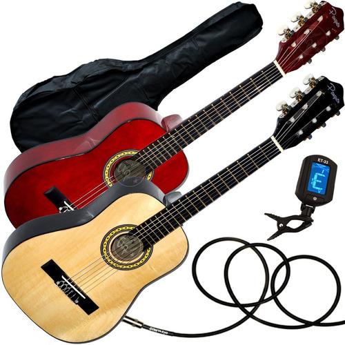 guitarra criolla electroacustica niño + funda + afinador