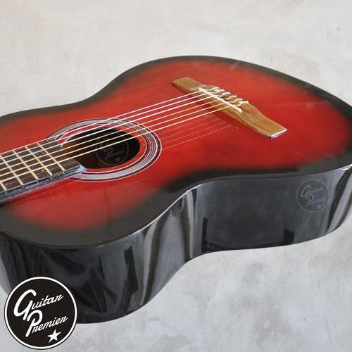guitarra criolla electrocustica pack x 6 unidades funda pua