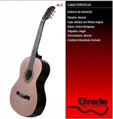guitarra criolla gracia m2 de iniciacion de estudio