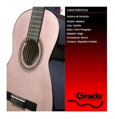 guitarra criolla gracia modelo m5 niño junior mediana