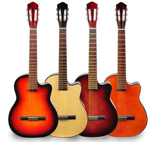 guitarra criolla media caja tapa ciega funda acolchada cd