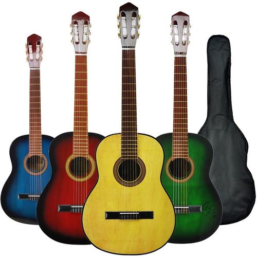 guitarra criolla para zurdo colores funda pua garantia envio