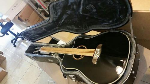 guitarra de 12 cuerdas oscar schmidt con estuche rigido nuev