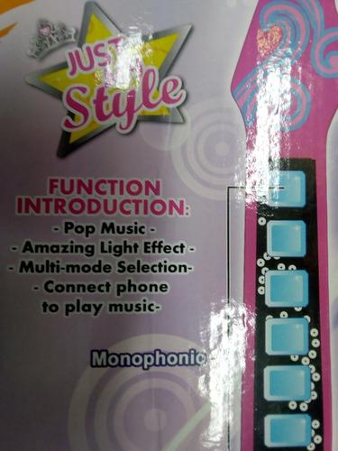 guitarra de rock juguete para niñas