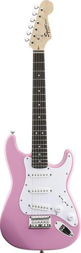 guitarra de viaje squier stratocaster mini pink 031-0101-570