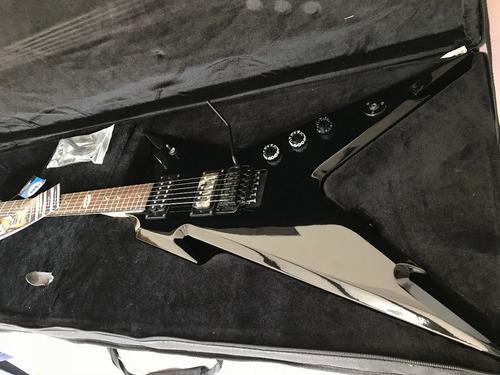 guitarra dean razorback dimebag floyd black w/case nueva
