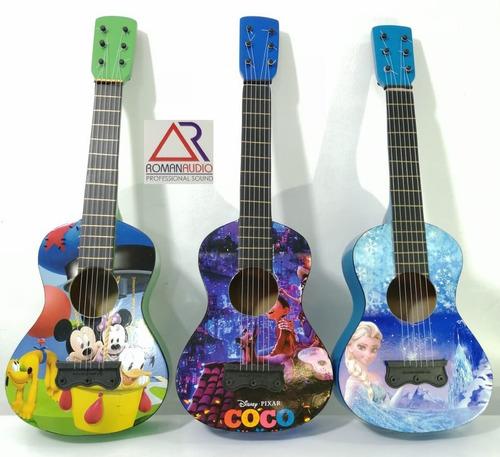 guitarra decorativa para niño / dibujos exclusivos + estuche