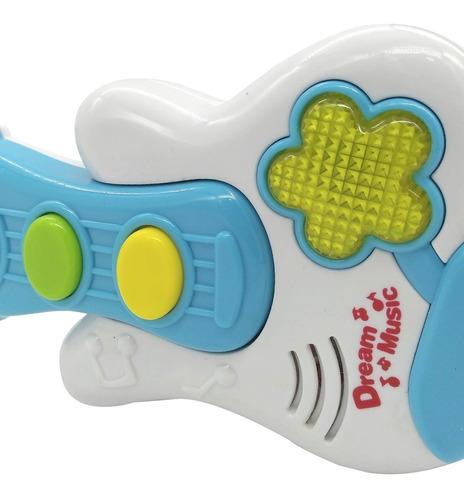 guitarra didactica musical con luces  poppi baby 6739