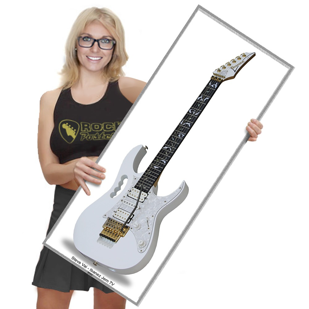 Guitarra Do Steve Vai Ibanez Jem 7v White Tam Real