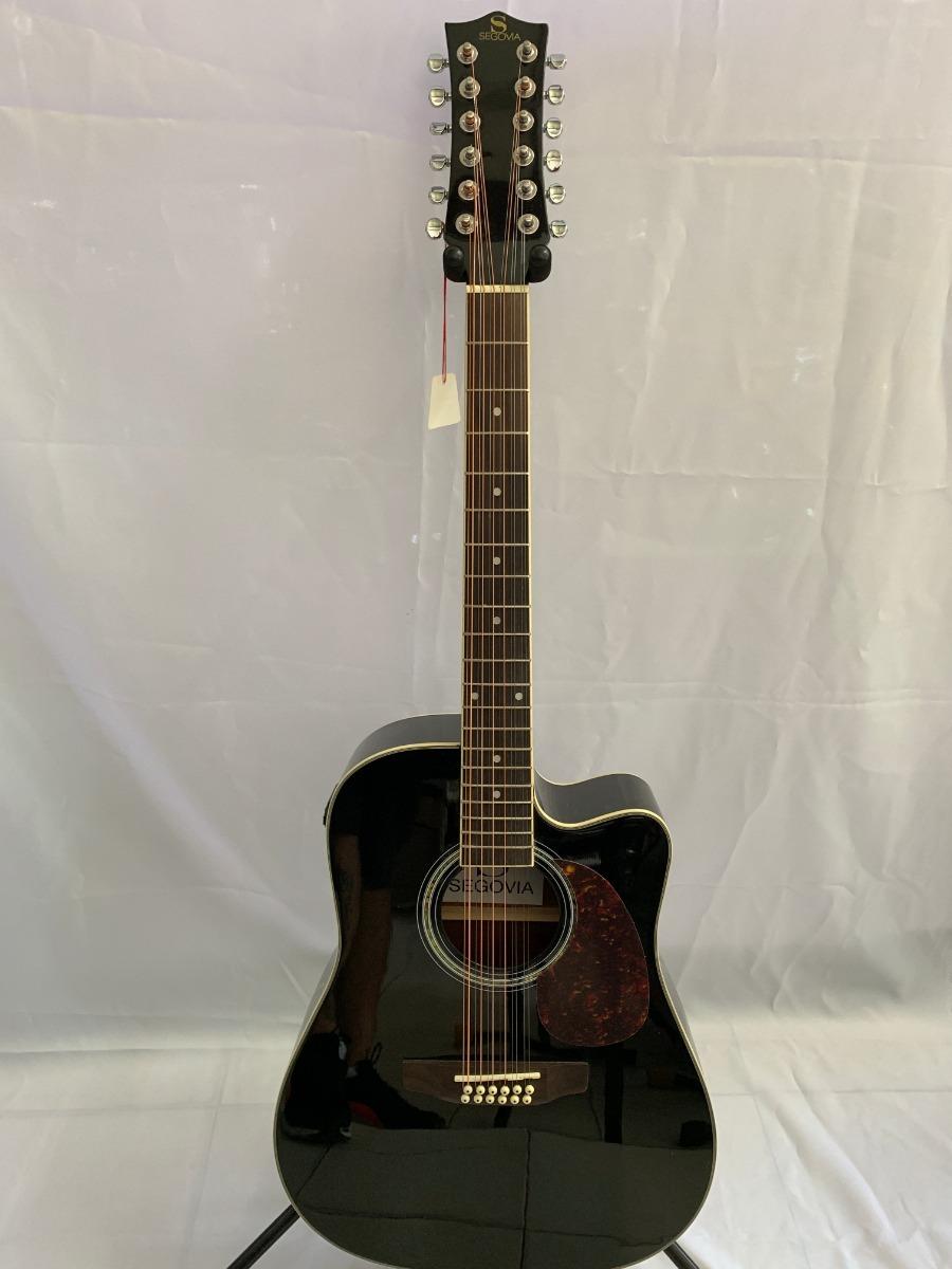 f75ec1032575 guitarra docerola electroacustica segovia 12 cuerdas negro. Cargando zoom.