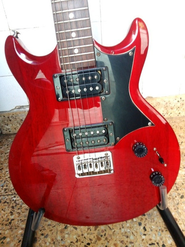 guitarra elec. ibanez gio gax30 tr transparent red