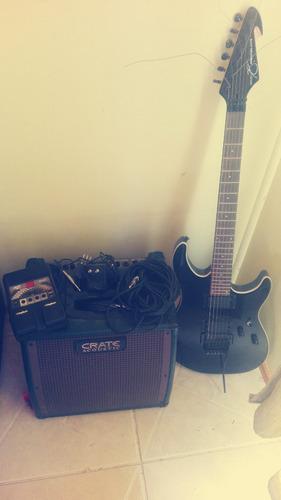 guitarra electrica ampli y pedal