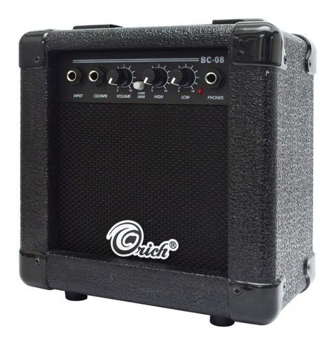 guitarra eléctrica amplificador estuche afinador orich