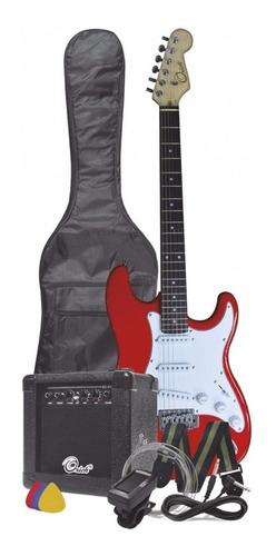 guitarra electrica combo. forro, amplificador cable afinador