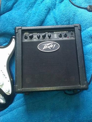 guitarra electrica damaris con amplificador