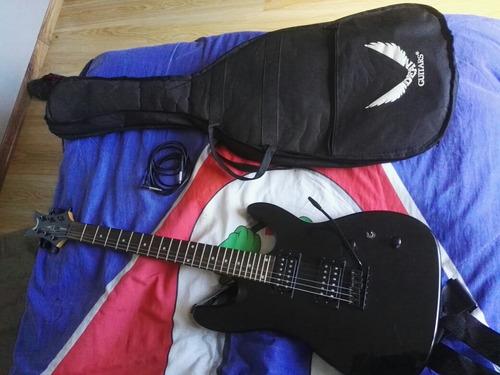 guitarra eléctrica dean con amplificador