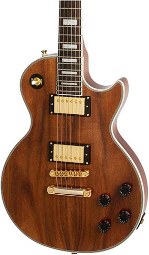 guitarra electrica epiphone les paul custom pro koa