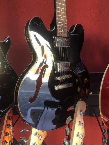 guitarra eléctrica epiphone negra dotebony