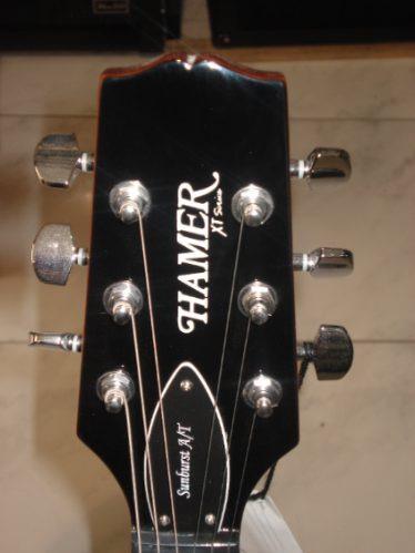 guitarra electrica hamer satftlh hb zurda