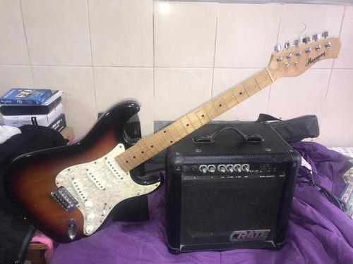 guitarra eléctrica harmony + amplificador