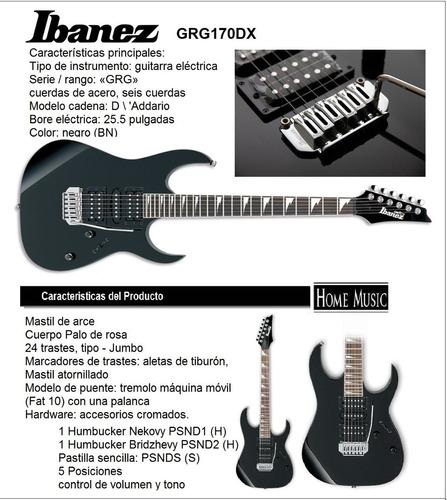 guitarra electrica ibanez gio grg170dx original envio gratis