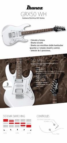 guítarra electrica ibanez grx 50 white  2017 **************