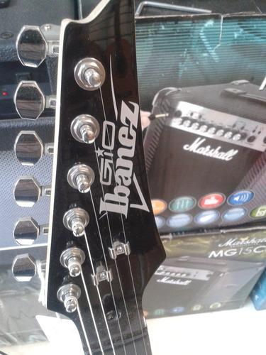 guitarra eléctrica ibanez grx22 gio stratocater + accesorios